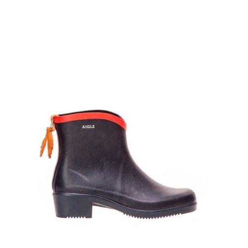 Aigle Boots. Miss Juliette Bott. Marine/Rouge