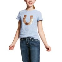 Ariat Childrens Sequin Horseshoe Tee