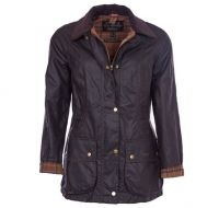 Barbour Ladies Wax Jacket. Beadnell - Rustic or  Navy