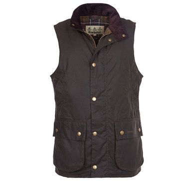 Barbour Mens Wax Gilet. Westmorland - Olive