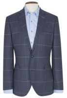 Brook Taverner Mens Jacket. Magnum - Indigo Check