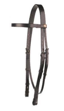 Jeffries Falcon Headstall with Plain Browband