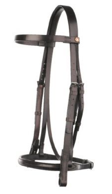 Jeffries Falcon Headstall with Show Noseband