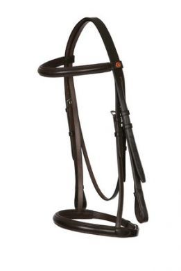 Jeffries Falcon Raised & Padded Headstall with matching Show noseband