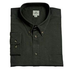 Hoggs Mens Shirt. Pure Cotton Twill - Woodland