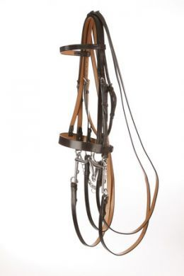 Jeffries Traditional Hunt style Weymouth Bridle with a Plain Cavesson