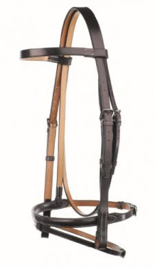Jeffries Traditional Headstall with Flash noseband