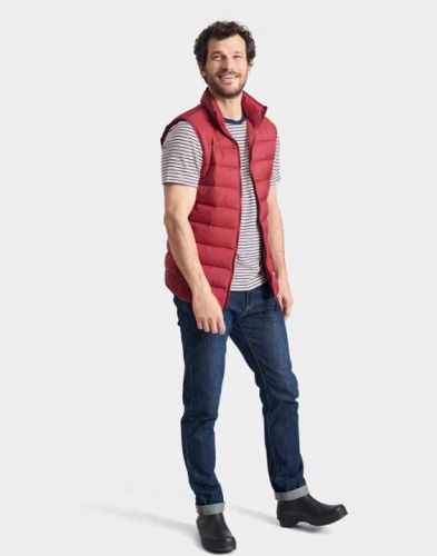 Joules Mens Gilet. Go To - Rhubarb