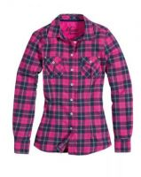 Musto Ladies Winter Plaid Shirt - Magenta