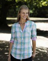 Musto Ladies Shirt. Shelford - Jade Green Plaid