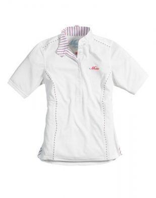 Musto Ladies Shirt. Short Sleeved Stock - White