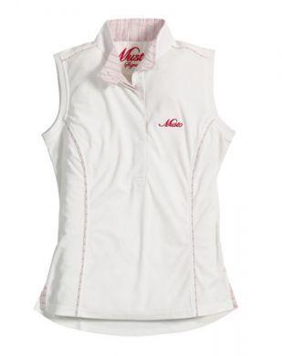 Musto Ladies Shirt. Sleeveless Stock - White
