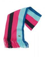Musto Ladies Signature Striped Scarf-Cobalt Blue