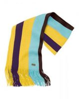 Musto ladies Signature Striped Scarf-Winter Gold