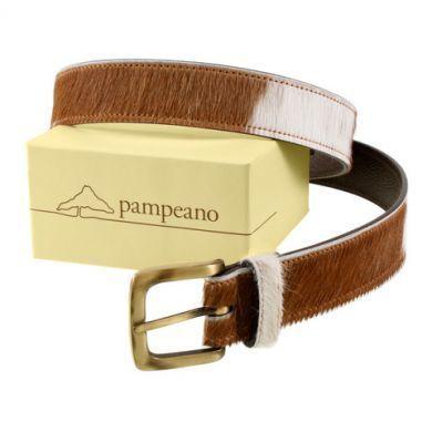 Pampeano Belt. Brown Cowhide