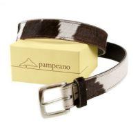 Pampeano Belt. Black Cowhide