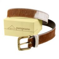 Pampeano Belt. Brown Cowhide