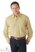 Sherwood Forest Mens Shirt. Field Tattersall - Corn Check