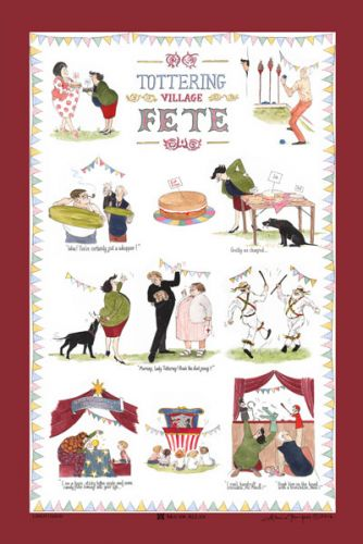 Tea Towel - Tottering Village Fete