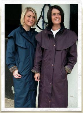 Target Dry ladies long waterproof Outback Coat. Olive or Navy