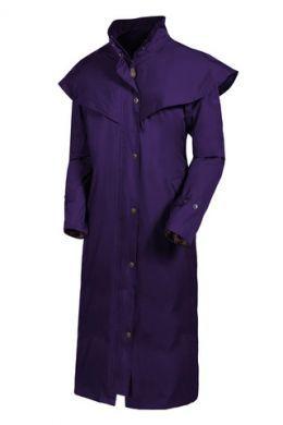 Target Dry ladies long waterproof Outback 2 Coat. Blackberry or Eclipse Blue