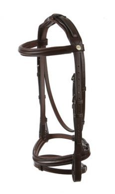 jeffries Wembley Pro Raised and Padded Bridle with Flash Noseband and Nylon Lined Reins