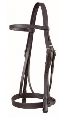 Wembley Snaffle with plain Cavesson & Rubber Grip Reins