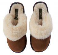 Barbour Ladies Slippers. Lydia Mule - Brown Suede