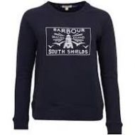 Barbour Ladies Sweatshirt. Lewes Overlayer - Navy