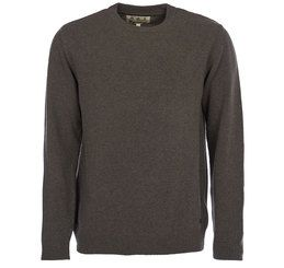 Barbour Mens Jumper. Nelson Crew Neck - Seaweed