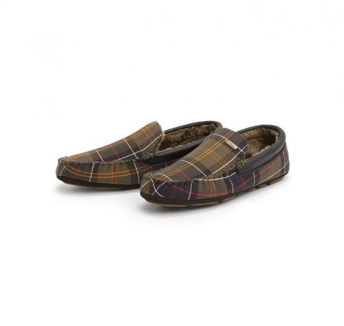 Barbour Mens Slippers. Monty - Classic Tartan