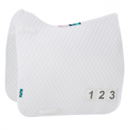 Numed HiWither Quilt Competition Saddlepad with numbers