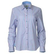 Hoggs Ladies Shirt. Becky - pink/blue checks