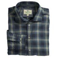 Hoggs Mens Shirt. Angus - Navy/Beige