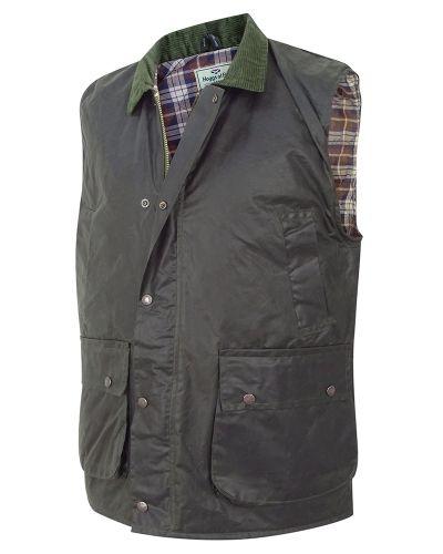 Hoggs Wax Waistcoat. Olive