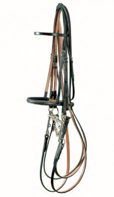 Jeffries Traditional Show Weymout Bridle with Raised Show noseband