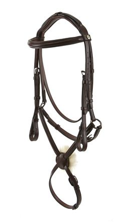 Jeffries Wembley Pro Raised and Padded Bridle with Mexican Grakle