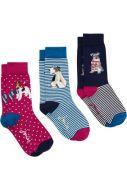 Joules Ladies Socks. Brilliant Bamboo - Xmas 3 pk