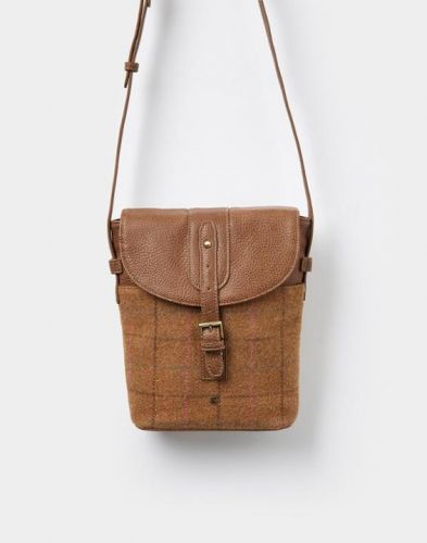 Joules Ladies Bag. Tourer - Tan Check