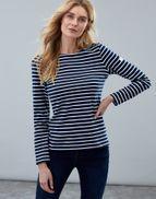 Joules Ladies Top. Harbour - Navy/Cream Stripe