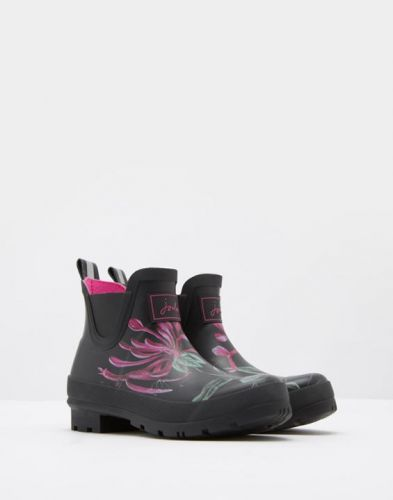 Joules Ladies Wellibobs. Black Hedgerow