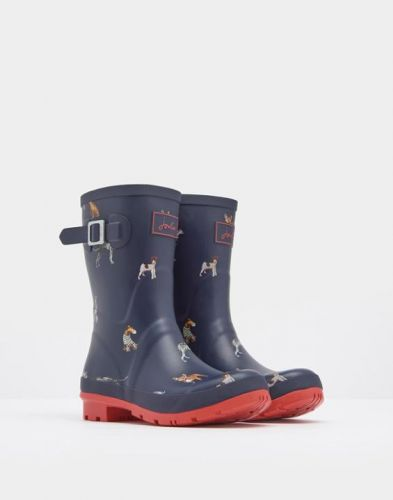 Joules Ladies Wellies. Molly - French Navy Cosy Dog