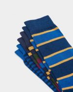 Joules Mens Socks. Brilliant Bamboo - Navy Stripe 3 Pack