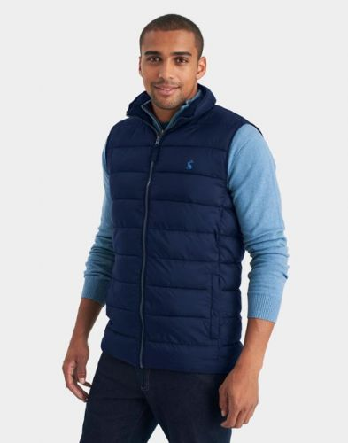 Joules Mens Gilet. To Go - Marine Navy