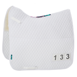 Numed HiWither Half Wool Competition Saddlepad with numbers