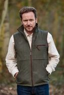 Sherwood Forest Mens Gilet. Tatton - Olive