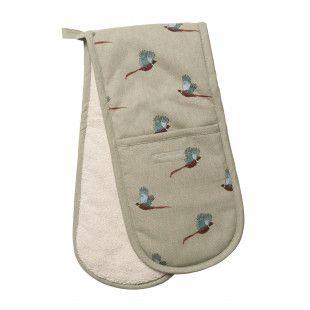 Sophie Allport Double Oven Glove. Pheasant