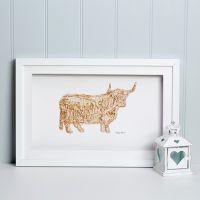 Daisy Maison Highland Cow, Map of Scotland